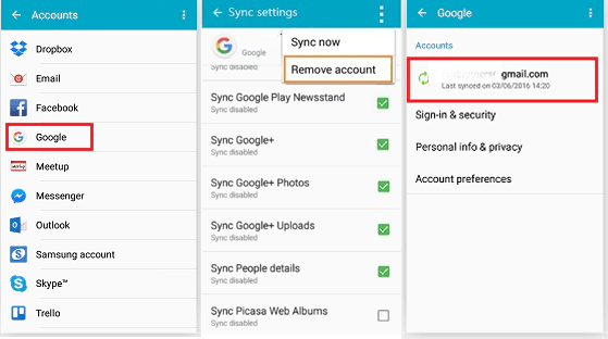 samsung contacts recovery with google account