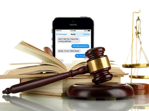 print out text messages for court