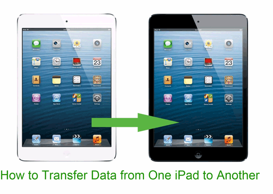 how to transfer data from one ipad to another