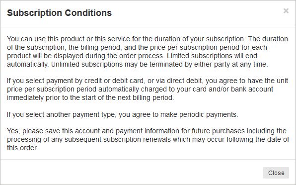 subscription condition