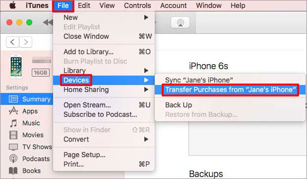 transfer music from iphone to iphone with itunes
