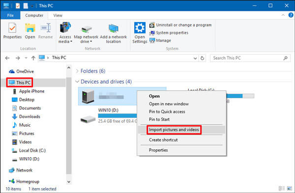 how to transfer photos from sd card to computer with windows explorer
