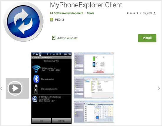 android manager for pc - my phone explorer