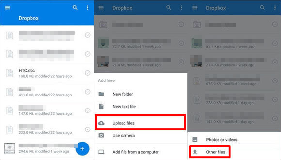 transfer contacts from htc to iphone with dropbox