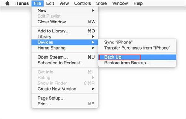 how to backup photos from iphone to itunes