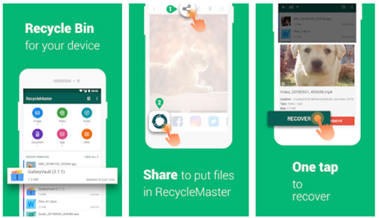 best photo recovery app for android - recycle master