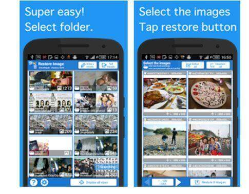 best photo recovery app for android - restore image