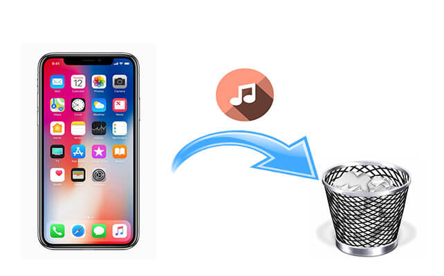 how to delete music from iphone but not itunes