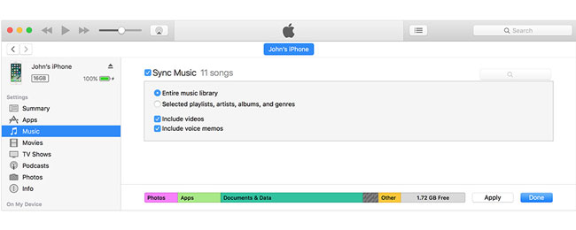 how to transfer music from ipad to iphone with itunes