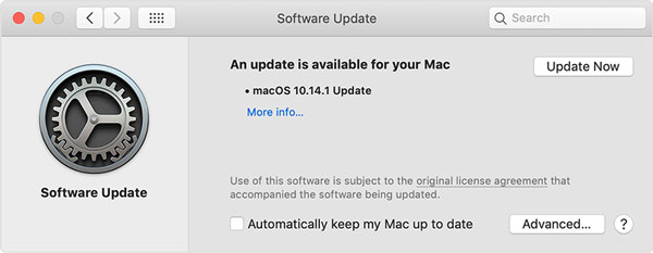 update macos if iphone won't connect to mac