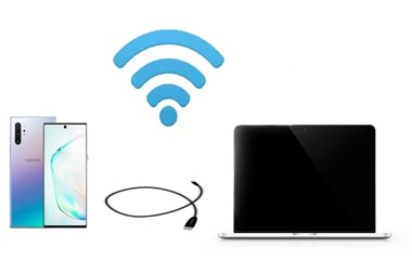 connect android via wifi or usb
