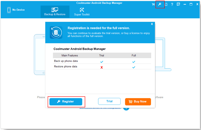 register android backup manager