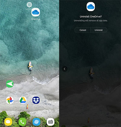 how to uninstall apps on android phone from computer from app screen