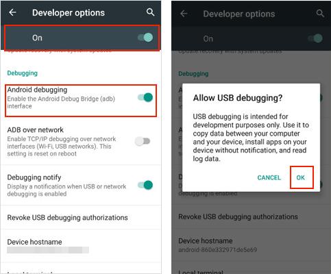 enable usb debugging on oneplus