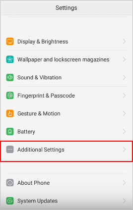 go to settings on oppo