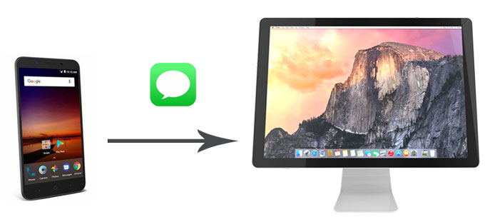 how to transfer messages from android to mac