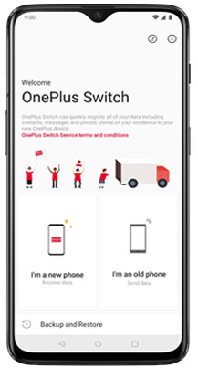 oneplus transfer via oneplus switch app