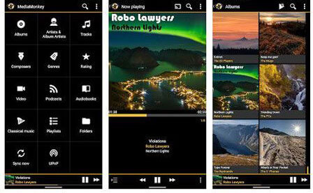best music manager for android - mediamonkey