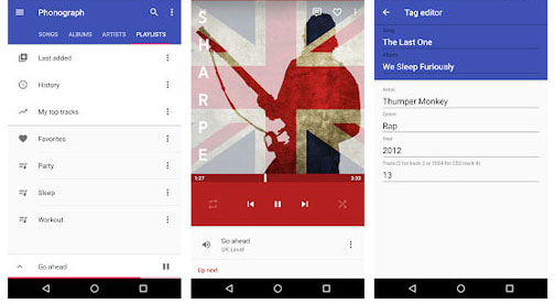 best music manager for android - phonograph