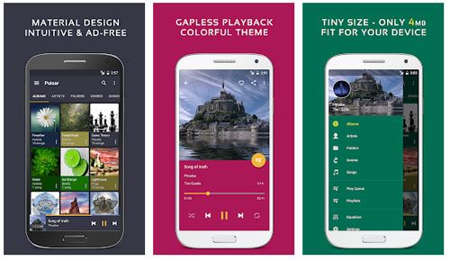 best music manager for android - pulsar music player
