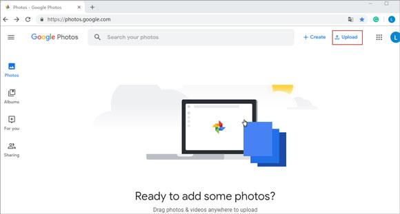 transfer photos from pc to ipad via google photos