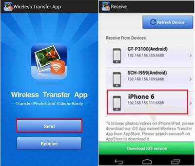 conduct huawei data transfer via wireless transfer app