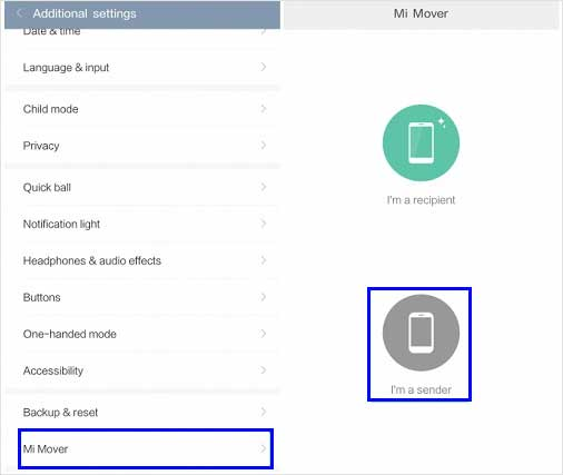 how to transfer data from mi to mi via mi mover