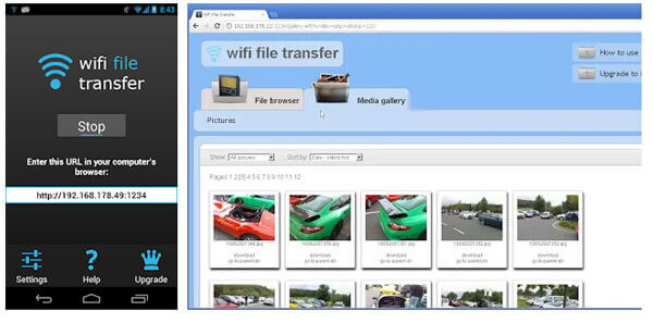 sync android to pc via wifi transfer app