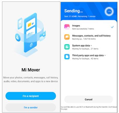 transfer iphone data to xiaomi via mi mover