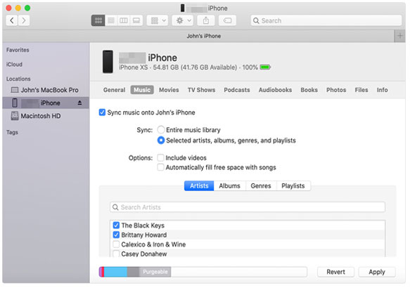 how to upload music to iphone from pc without itunes via finder