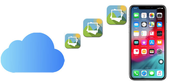 how to download photos from icloud to iphone