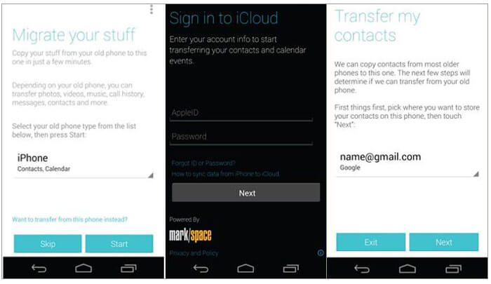 iphone to motorola transfer via motorola migrate