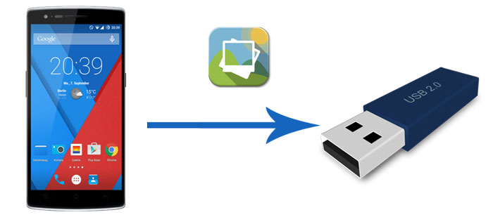 how to transfer photos from android phone to usb flash drive