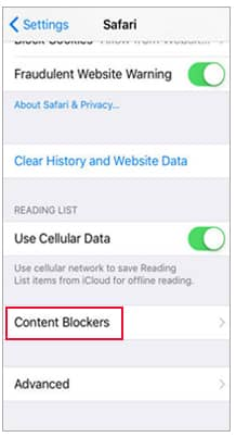 disable content blockers to fix safari not loading websites ios 14