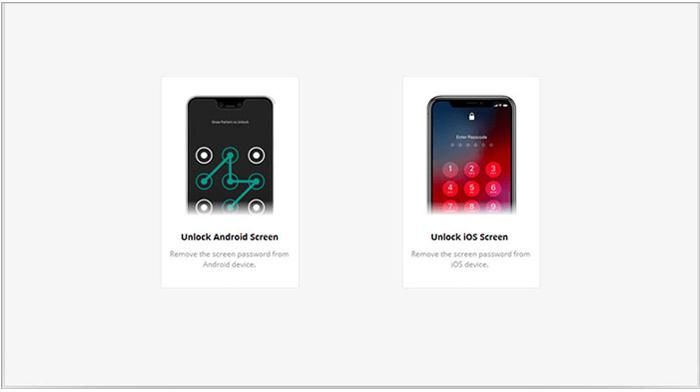 select unlock ios screen to unlock a stolen iphone