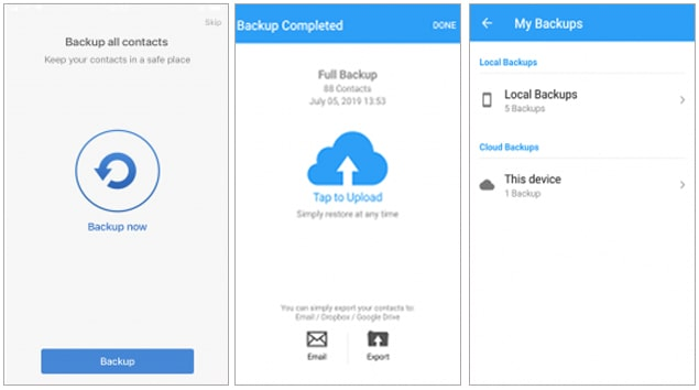 how to copy contacts from android phone to sim via easy backup app
