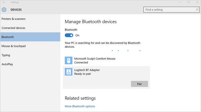 enable bluetooth on pc to transfer files from xiaomi to pc