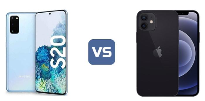 iphone 12 vs samsung s20