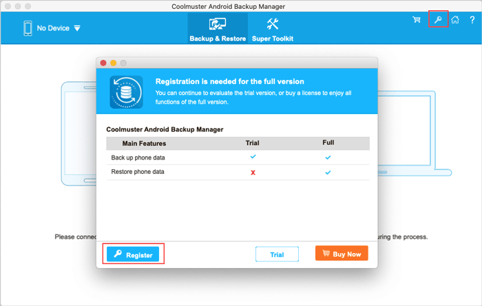 register android backup manager for mac