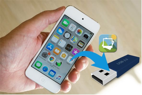 how to transfer photos from iphone to flash drive