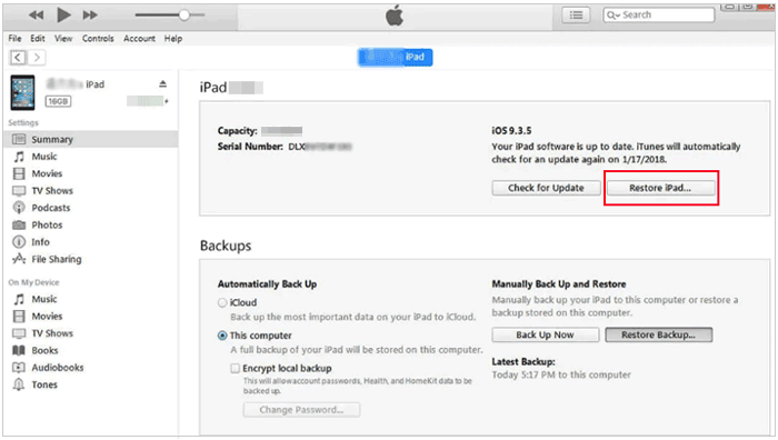 how to unlock ipod touch without password via dfu mode
