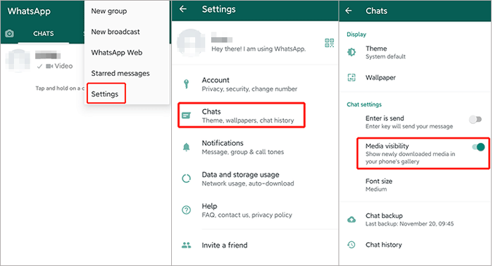 how to save whatsapp photos on android manually
