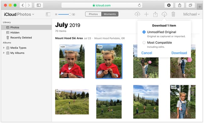 how to get photos off iphone to mac using icloud