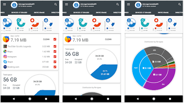 android storage manager - dsk & storage analyzer