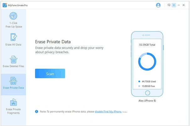 best iphone data eraser software - imyfone