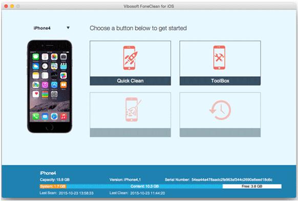 best iphone data eraser software - vibosoft foneclean for ios