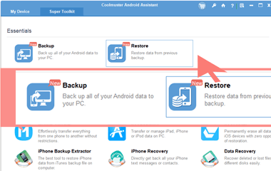 android backup and restore