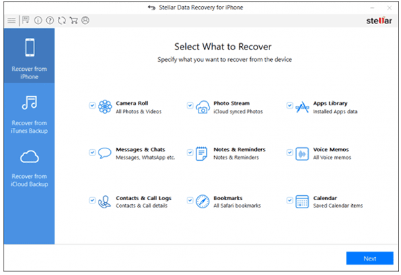 best iphone recovery software - stellar