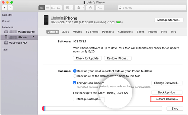 how to retrieve deleted text messages on iphone from mac via finder
