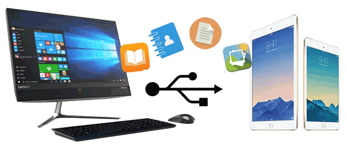 how to transfer files from pc to ipad using usb